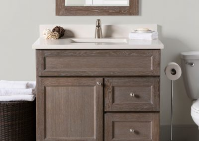 "36"" Dawson vanity with Torino Quartz top"